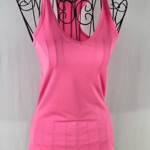 UA hot pink fitted Heat Gear; worn once